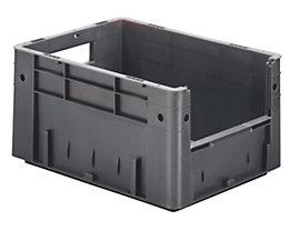 Euro-Stapelbehälter - Inhalt 17,5 l, Außen-LxBxH 400 x 300 x 210 mm, VE 4 Stk - grau