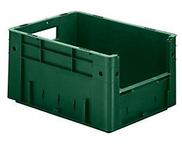Euro-Stapelbehälter - Inhalt 17,5 l, Außen-LxBxH 400 x 300 x 210 mm, VE 4 Stk - grün