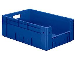 Euro-Stapelbehälter - Inhalt 38 l, Außen-LxBxH 600 x 400 x 210 mm, VE 2 Stk - blau