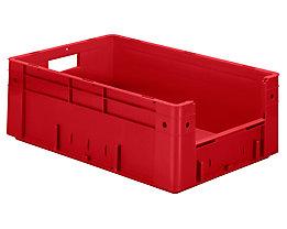 Euro-Stapelbehälter - Inhalt 38 l, Außen-LxBxH 600 x 400 x 210 mm, VE 2 Stk - rot
