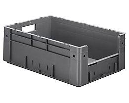 Euro-Stapelbehälter - Inhalt 38 l, Außen-LxBxH 600 x 400 x 210 mm, VE 2 Stk - grau