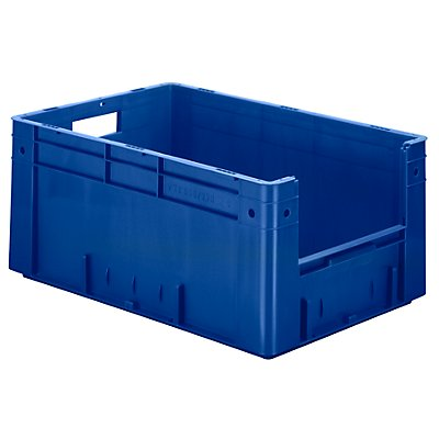 Euro-Stapelbehälter - Inhalt 50 l, Außen-LxBxH 600 x 400 x 270 mm, VE 2 Stk