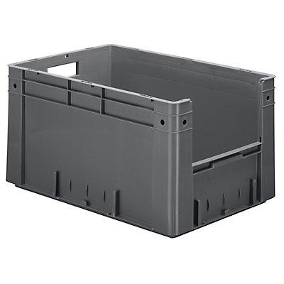 Euro-Stapelbehälter - Inhalt 60 l, Außen-LxBxH 600 x 400 x 320 mm, VE 2 Stk