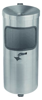 Sicherheits-Wandascher mit Abfallsammler - Edelstahl - Höhe 410 mm, Ø 180 mm