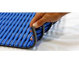 Nassraummatte, antibakteriell, pilzfeindlich - Nassraummatte, antibakteriell, pro lfd. m - Breite 1200 mm, blau