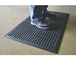 Anti-Ermüdungsmatte aus Naturgummi, schwarz - Einzelmatte - LxB 900 x 600 mm, VE 2 Stk