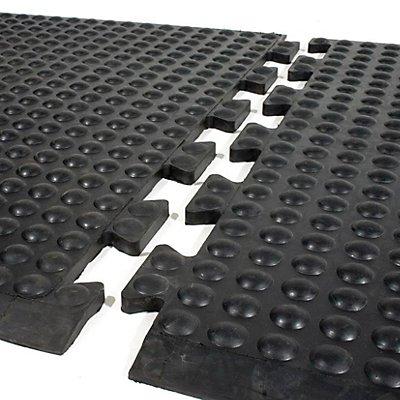 Anti-Ermüdungsmatte aus Naturgummi, schwarz - Mittelstück - LxB 900 x 600 mm