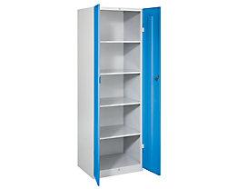 Wolf Stahlschrank - Breite 600 mm, 4 Böden - Türen lichtblau