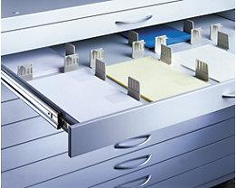 Schubladenteiler - Fachteiler, VE 42 Stk - für DIN Formate