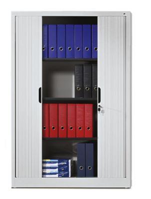 CP Rollladenschrank mit Horizontal-Jalousie - HxBxT 1980 x 1000 x 420 mm, 4 Fachböden, 5 Ordnerhöhen