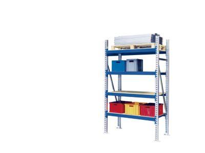 Weitspann-Großfachregal - Feldlast max. 4000 kg, HxBxT 2500 x 1350 x 800 mm