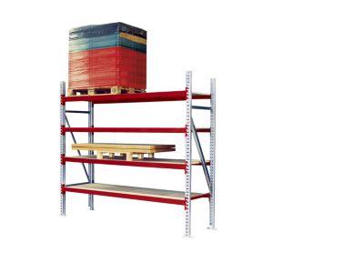 Weitspann-Großfachregal - Feldlast max. 4000 kg, HxBxT 2500 x 2700 x 800 mm