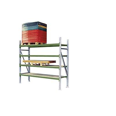 Weitspann-Großfachregal - Feldlast max. 4000 kg, HxBxT 2500 x 2700 x 1100 mm