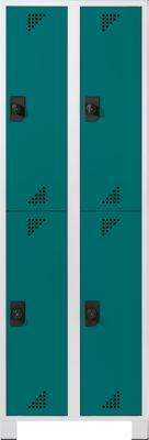 EUROKRAFT Garderobenschrank, Abteilhöhe 850 mm - HxBxT 1800 x 600 x 500 mm, 4 Abteile