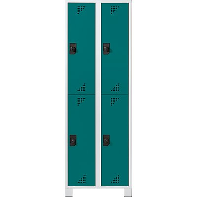 EUROKRAFT Garderobenschrank, Abteilhöhe 850 mm - HxBxT 1800 x 800 x 500 mm, 4 Abteile