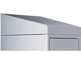 Schrägdachaufsatz - Höhe 25 / 156 mm - für 1 Abteil Breite 300 und 400 mm