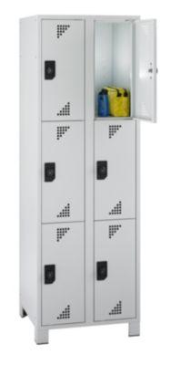 EUROKRAFT Schließfachschrank, Fachhöhe 558 mm - HxBxT 1800 x 600 x 500 mm, 6 Abteile