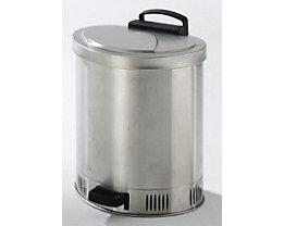 Sicherheits-Entsorgungsbehälter, Deckel selbstschließend - aus Edelstahl