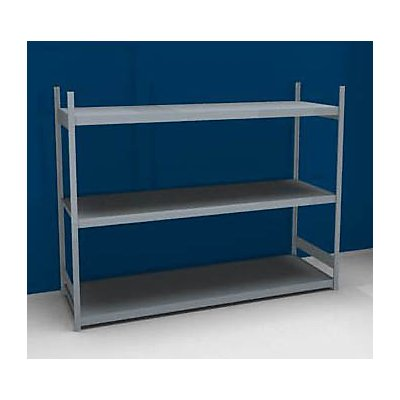 hofe Großfach-Steckregal mit Stahlböden - Höhe 2000 mm, Fachbodenbreite 2500 mm