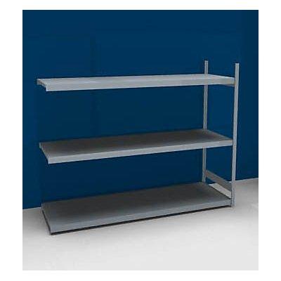 Großfach-Steckregal mit Stahlböden - Höhe 2000 mm, Fachbodenbreite 2500 mm