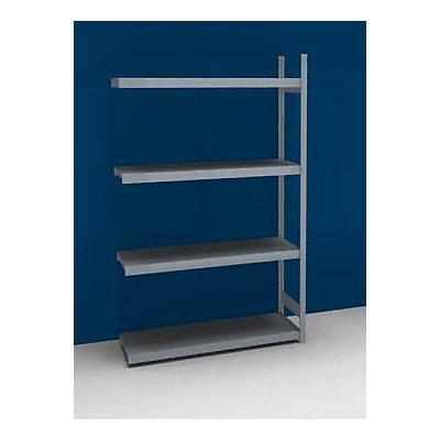 hofe Großfach-Steckregal mit Stahlböden - Höhe 2500 mm, Fachbodenbreite 1500 mm