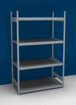 Großfach-Steckregal mit Stahlböden - Höhe 2500 mm, Fachbodenbreite 1500 mm