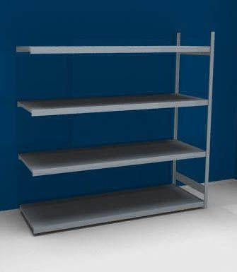 Großfach-Steckregal mit Stahlböden - Höhe 2500 mm, Fachbodenbreite 2500 mm