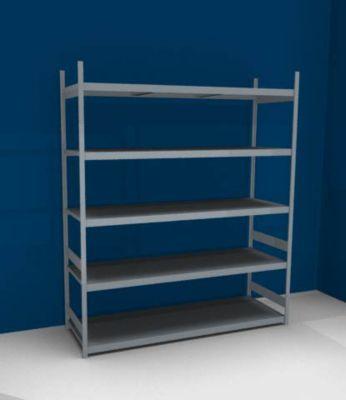 Großfach-Steckregal mit Stahlböden - Höhe 3000 mm, Fachbodenbreite 2500 mm