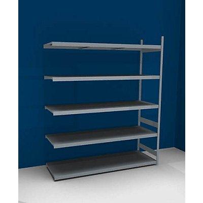 hofe Großfach-Steckregal mit Stahlböden - Höhe 3000 mm, Fachbodenbreite 2500 mm