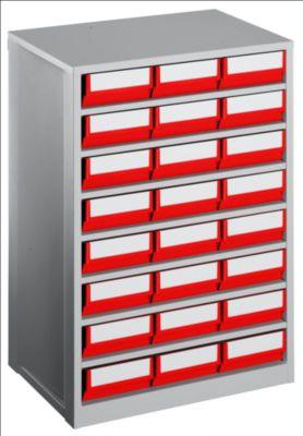 Schubladenmagazin, Gehäuse-Traglast 240 kg - HxBxT 862 x 600 x 417 mm, 24 Schubladen