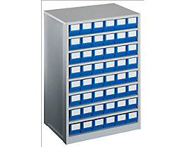 Schubladenmagazin, Gehäuse-Traglast 240 kg - HxBxT 862 x 600 x 417 mm, 48 Schubladen