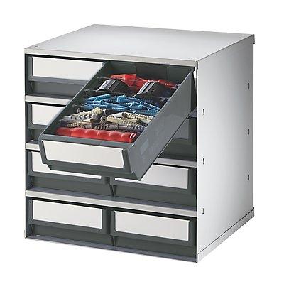 Lockweiler Schubladenmagazin, Gehäuse-Traglast 75 kg - HxBxT 395 x 380 x 300 mm, 8 Schubladen