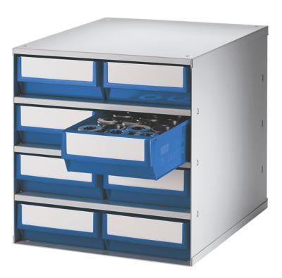 Schubladenmagazin, Gehäuse-Traglast 75 kg - HxBxT 395 x 380 x 400 mm, 8 Schubladen