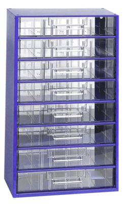 Schubladenmagazin, Schubladen glasklar - HxBxT 551 x 306 x 155 mm, 8 Schubladen