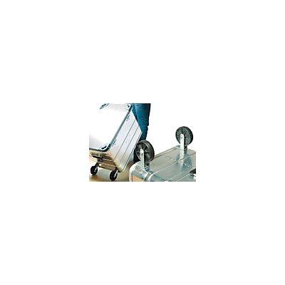 Räder für Aluminiumbehälter - 1 Paar - 2 Kunststoffrollen, Rad-Ø 95 mm