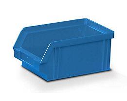 Sichtlagerkasten aus Polystyrol - Außen- / Innenlänge 160 / 140 mm - BxH 102 x 75 mm, VE 32 Stk, blau