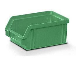 Sichtlagerkasten aus Polystyrol - Außen- / Innenlänge 160 / 140 mm - BxH 102 x 75 mm, VE 32 Stk, grün