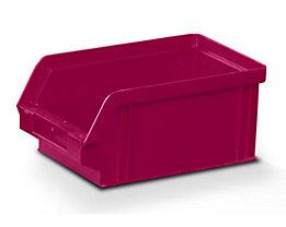 Sichtlagerkasten aus Polystyrol - Außen- / Innenlänge 160 / 140 mm - BxH 102 x 75 mm, VE 32 Stk, rot
