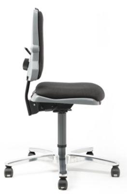 bimos Arbeitsdrehstuhl – SINTEC - 160 kg Schwerlaststuhl - Aluminium-Fußkreuz, inkl. 1 Satz Gleiter und Rollen