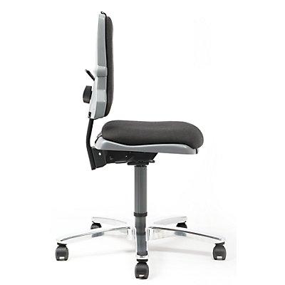bimos Arbeitsdrehstuhl – SINTEC - 160 kg Schwerlaststuhl - ohne Polsterung, inkl. 1 Satz Gleiter und Rollen