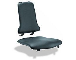 Polster - VE = je 1 Polster für Sitz und Rückenlehne - Kunstleder-Polster, schwarz
