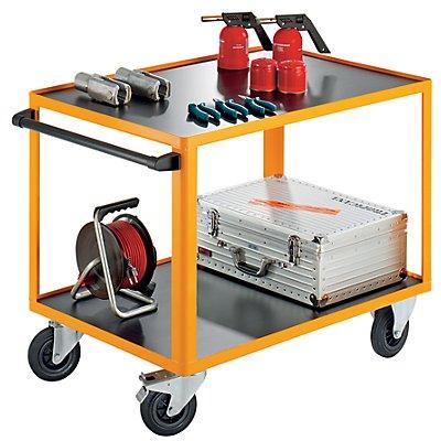 QUIPO Montagewagen - mit anklickbarem Schiebegriff - LxBxH 1150 x 700 x 855 mm