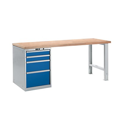 lista werkbank komplett buche multiplex arbeitsplatte h he 840 mm unterstellschrank 4. Black Bedroom Furniture Sets. Home Design Ideas
