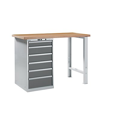 lista werkbank komplett buche multiplex arbeitsplatte h he 1040 mm unterstellschrank 6. Black Bedroom Furniture Sets. Home Design Ideas
