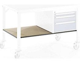Ablageboden unten - für Tisch- BxT 750 x 800 mm - Boden- BxT 640 x 595 mm