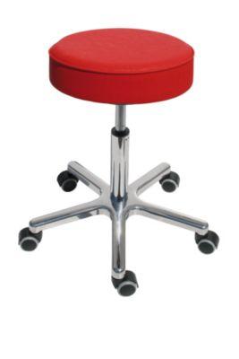 Arbeitshocker mit Gasfeder-Höhenverstellung - Sitz aus Kunstleder, Ø 360 mm