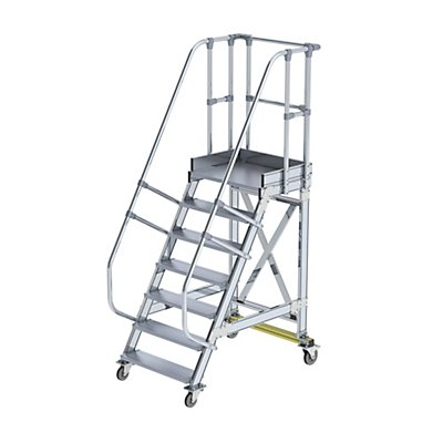 Günzburger Steigtechnik Sicherheitstreppe, fahrbar - Neigungswinkel 60°