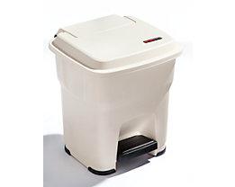 Rothopro Pedal-Abfallsammler mit 35 Liter Volumen - aus Kunststoff - beige