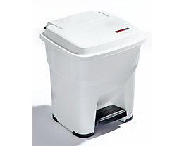 Rothopro Pedal-Abfallsammler mit 35 Liter Volumen - aus Kunststoff - weiß