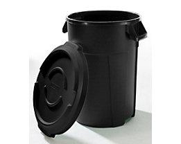 Multifunktionsbehälter aus Kunststoff - Volumen 120 l - schwarz